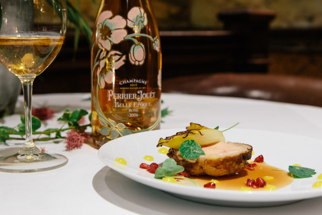 champagne dinner at club gascon